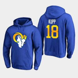 Rams de Los Angeles 18 hommes Cooper Kupp Logo primaire Sweat à capuche - royal
