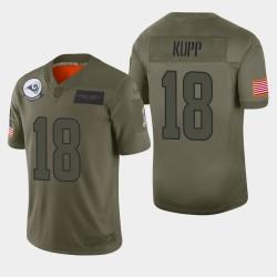 Los Angeles Rams Hommes 18 Cooper Kupp 2019 Salut au service Camo Jersey limitée