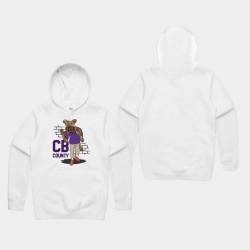 Joueur Baltimore Ravens Lamar Jackson Men Comic CB Goon Sweat à capuche - Blanc