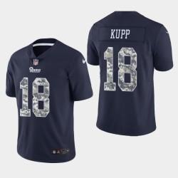 Los Angeles Rams Hommes 18 Cooper Kupp Salut au service de la Marine pratique Jersey