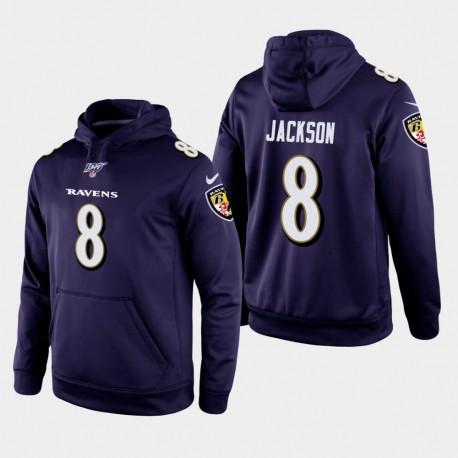 Ravens Lamar Jackson 100ème saison Jeu Hoodie - Violet