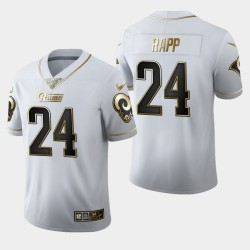 Rams Hommes Los Angeles 24 Taylor Rapp 100ème Saison Golden Edition Jersey - Blanc