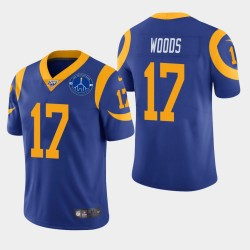 Robert Woods Hommes Los Angeles Rams Memorial Coliseum Patch Vapor Limited Jersey - Royale
