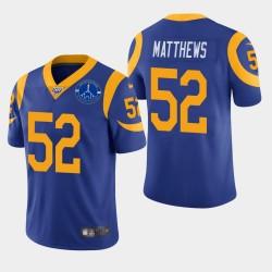 Clay Matthews Men Rams de Los Angeles Memorial Coliseum Patch Vapor Limited Jersey - Royale