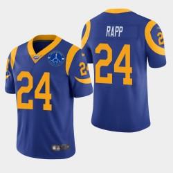 Taylor Rapp hommes Rams de Los Angeles Memorial Coliseum Patch Vapor Limited Jersey - Royale