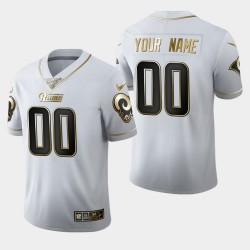 Rams personnalisés 100ème Saison Golden Edition Jersey - Blanc
