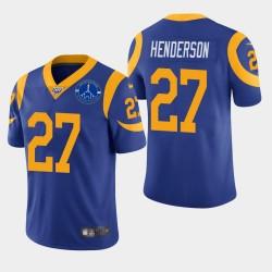 Darrell Men Henderson Los Angeles Rams Memorial Coliseum Patch Vapor Limited Jersey - Royale
