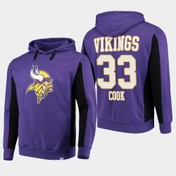 Fanatiques Branded Minnesota Vikings 33 hommes Dalvin Cook équipe Iconic Sweat à capuche - Violet