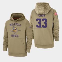 Dalvin Cook hommes Minnesota Vikings 2019 Salut au service Sideline Therma Sweat à capuche - Tan