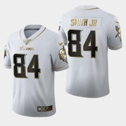 Vikings du Minnesota 84 hommes Irv Smith Jr. Saison 100 Golden Edition Jersey - Blanc