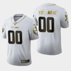 Minnesota Vikings hommes 00 100ème saison d'or personnalisée édition Jersey - Blanc