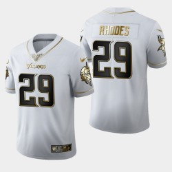 Vikings du Minnesota Hommes 29 Xavier Rhodes 100ème Saison Golden Edition Jersey - Blanc