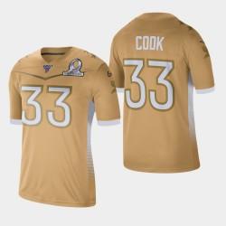 Minnesota Vikings Men 33 Dalvin 2020 Faire cuire NFC Pro Bowl Jeu Jersey - or