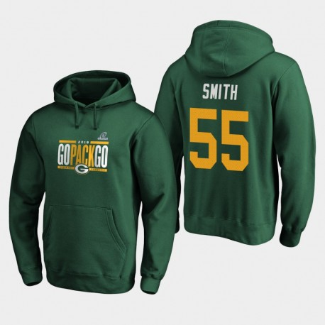 Packers Za'Darius Smith 2019 NFL Playoffs Bound Ville natale Checkdown Sweat à capuche - vert
