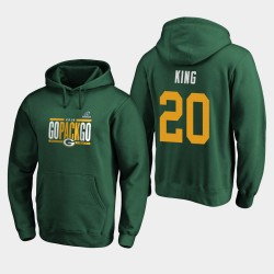 Green Bay Packers Hommes Kevin King 2019 NFL Playoffs Bound Ville natale Checkdown Sweat à capuche - vert