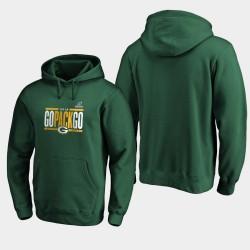 Green Bay Packers NFL Playoffs 2019 hommes Bound Ville natale Checkdown Sweat à capuche - vert