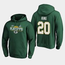 Green Bay Packers Hommes Kevin King 2019 NFL Playoffs Bound Chip Tir Sweat à capuche - vert
