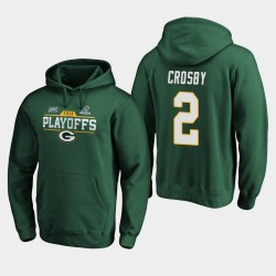 Green Bay Packers hommes Mason Crosby 2019 NFL Playoffs Bound Chip Tir Sweat à capuche - vert