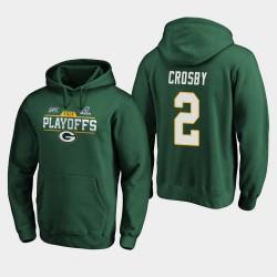 Green Bay Packers hommes Mason Crosby 2019 NFL Playoffs Bound Chip Tir Sweat à capuche - vert