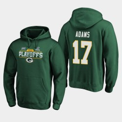 Packers de Green Bay Men Davante Adams 2019 NFL Playoffs Chip Bound Tir Sweat à capuche - vert