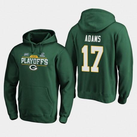 Packers de Green Bay Men Davante Adams 2019 NFL Playoffs Chip Bound Tir Sweat à capuche - vert