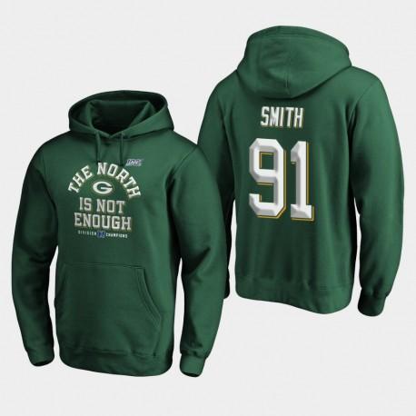 Packers Preston Smith 2019 NFC Couverture Champions du Nord Division Deux Sweat à capuche - vert