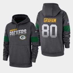 Green Bay Packers Hommes 80 Jimmy Graham 100e saison Sideline équipe Logo Sweat à capuche - Anthracite