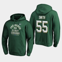 Packers de Green Bay Men Za'Darius Smith 2019 NFC Couverture Champions du Nord Division Deux Sweat à capuche - vert
