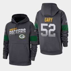 Packers de Green Bay 52 hommes Rashan Gary 100e Saison Sideline équipe Logo Sweat à capuche - Anthracite