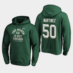 Packers Blake Martinez 2019 NFC Nord Couverture Champions Division Deux Sweat à capuche - vert