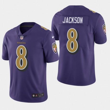 Baltimore Ravens Hommes 8 Lamar Jackson couleur Rush Limited Jersey - Violet