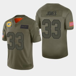 Green Bay Packers Aaron Jones 2019 Salut à Service Limited Jersey - Camo