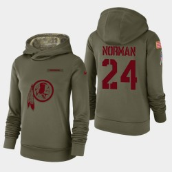 Redskins de Washington 24 femmes Josh Norman 2018 Salut à Service Performance Sweat à capuche - Olive