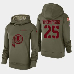 Redskins Chris Thompson 2018 Salut à Service Sweat à capuche - Olive