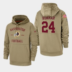 Josh Norman Redskins de Washington 2019 Salut des hommes au service Sideline Therma Sweat à capuche - Tan