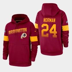 Washington Redskins Hommes 24 Josh Norman 100e saison Sideline équipe Logo Sweat à capuche - Bourgogne