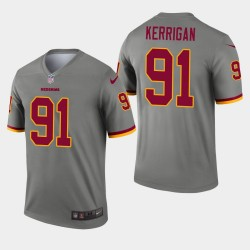 Redskins de Washington hommes 91 Ryan Kerrigan Inverted Legend Jersey - Gris