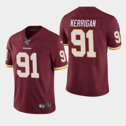 Redskins de Washington hommes 91 Ryan Kerrigan 100ème saison de vapeur Limited Jersey - Bourgogne