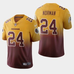 Washington Redskins Hommes 24 Josh Norman Couleur crash Gradient Bourgogne Jersey