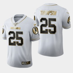 Washington Redskins Hommes 25 Chris Thompson 100ème Saison Golden Edition Jersey - Blanc