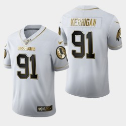 Redskins de Washington hommes 91 Ryan Kerrigan 100ème Saison Golden Edition Jersey - Blanc