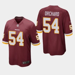 Washington Redskins hommes 54 Nate Orchard jeu Jersey - Bourgogne