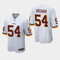 Washington Redskins hommes 54 Nate Orchard Jeu Jersey - Blanc