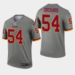 Washington Redskins hommes 54 Nate Orchard Inverted Legend Jersey - Gris