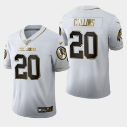 Washington Redskins Hommes 20 Landon Collins 100ème Saison Golden Edition Jersey - Blanc