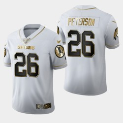 Washington Redskins Hommes 26 Adrian Peterson 100ème Saison Golden Edition Jersey - Blanc