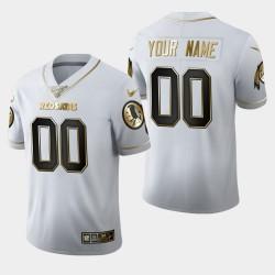 Redskins personnalisé 100ème saison Golden Edition Jersey - Blanc