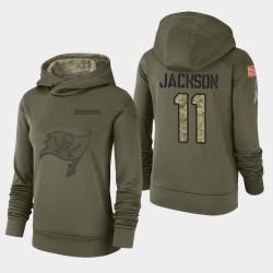 Bay Buccaneers de Tampa 11 femmes DeSean Jackson 2018 Salut à Service Performance Sweat à capuche - Olive