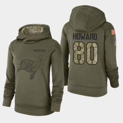 Bay Buccaneers de Tampa Femmes 80 O.J. Howard 2018 Salut à Service Performance Sweat à capuche - Olive