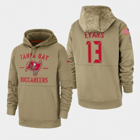 Mike Evans Hommes Tampa Bay Buccaneers 2019 Salut au service Sideline Therma Sweat à capuche - Tan